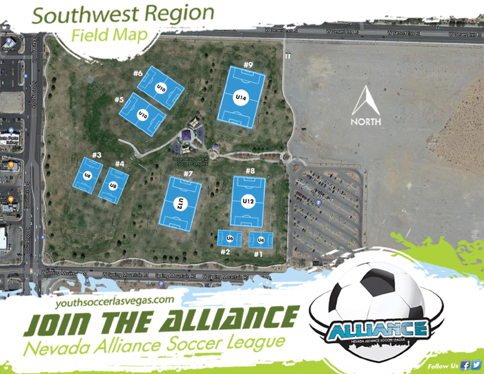 Southwest Field Map